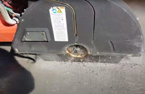 How do you cut a 4 inch concrete slab?